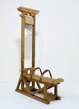 Oak Wood Operating Guillotine 1792 Model Hand Made Steel Blade Appox. 1:10 Scale