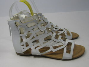 new Summer White Open Toe Roman Gladiator Sexy Sandals Shoes women Size 7