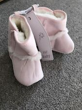 F&F Pink Baby Girl Boots 6-12 Months