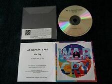 Promo CD, AS ELEPHANTS ARE - War Cry, 1 Track Single, UK 2012, Once Upon A Time