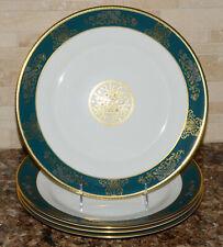 Wedgwood Agincourt Blue * 4 DINNER PLATES * England, Bone China, EXC!
