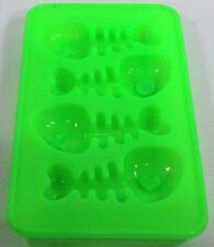 ANTIADERENTE STAMPI IN SILICONE Ice Cube Ice Cube vassoi-Pesce Cranio Forma Verde