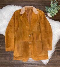 VTG BERETTA suede brown LEATHER Jacket Mens S