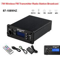 CD-01 High end 7W Wireless FM Transmitter Radio Broadcast RF FM Exciter Antenna