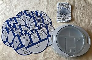 New Weight Loss Perfect Portions Plate by Nutritionist~Factory Sealed with box