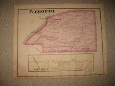 Antique 1877 Plymouth Township Cold Point Montgomery County Pennsylvania Map Nr