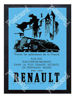 Historic Renault - the automobile of France. 1937 Advertising Postcard