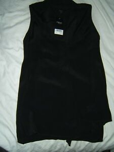 BNWT NEXT BLACK SLEEVELESS VISCOSE LIGHT TOP SIZE 10 AD/1798 678290143 WASHABLE