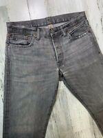 RRL Japan Woven Selvedge Jeans 32x33 (measured) Gray Slim Fit