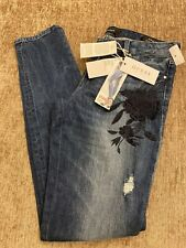 New Guess Denim Starlet Low Rise Skinny Fit Dark Blue Size W26 L32 Bargain Look
