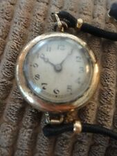 Watch Elgin Pocket Wrist Ladies 15 Jewel Gold Tone Hafis Watch Co Antique