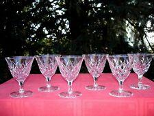 SAINT LOUIS ADOUR 6 WATER GLASSES VERRES A EAU CRISTAL TAILLÉ STL33 WASSERGLÄSER