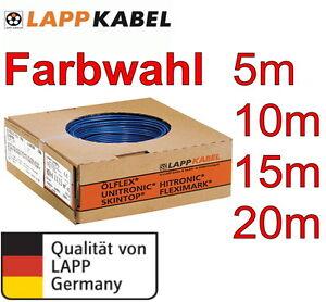 H07V-K 2,5 mm² Lapp Kabel Litze Schaltlitze Einzelader Farbwahl 10m  20m