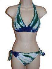 Lucky Brand tie dye halter bikini size S swimsuit new
