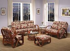 Kailua Rattan 6 Piece Living Room Furniture Sofa Set