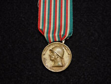 "Italian Kingdom Wwi ""Great War"" Commemorative Medal - Gilt"