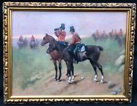 19thC Polish Light Cavalry Oil Painting manner of Jan CHELMINSKI 1851-1925