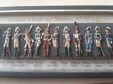 Very rare flat metal figures depicting Napoleon and his generals