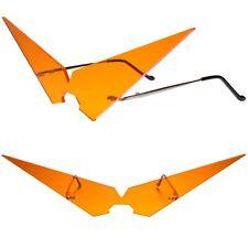 Anime Manga Costume Cosplay Party Rave Festival Orange Pointy Triangle Glasses