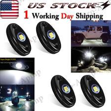 Led Rock Lights Underbody 4 Pods 9W White Light For Jeep Offroad Truck Utv Atv