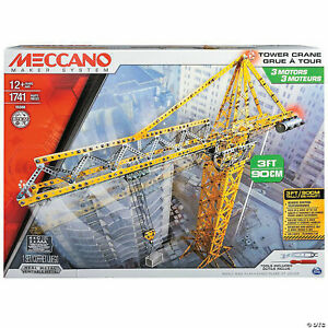 Meccano Erector Tower Crane. 3 Feet tall. STEM toy.  No Box included.