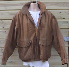 Vintage Timberland Brown Nubuck Leather Weathergear A2 Bomber Jacket - L - c1993