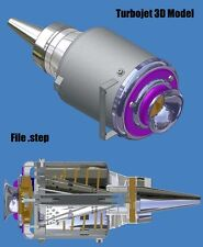 Progetto 3D Model Piani Costruttivi Turbojet Turbine Jet Engine Plans AEREO RC