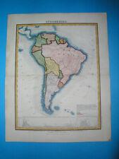 1869 RARE ORIGINAL MAP PATAGONIA ARGENTINA CHILE PERU COLOMBIA BUENOS AIRES LIMA
