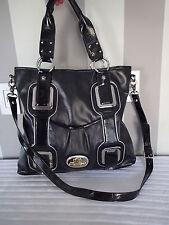 kathy van zeeland  bag handbag purse,tote,shopper,satchel black