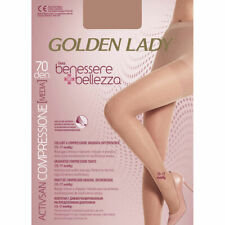 COLLANT DONNA  CALZE A COMPRESSIONE GRADUATA GOLDEN LADY 70 DENARI NERO TG.3