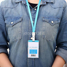 Security Badge ID Holder Pass Lanyard Card Wallet Tag Neck Strap Hot UK