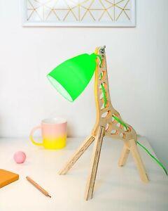 DECORATIVE 3D LED GREEN LAMP GIRAFFE USB OR POWER ADAPTOR VERY RARE MATAGA