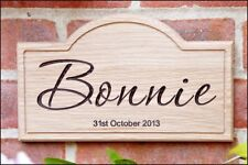Solid Oak House Sign Personal Wood Gift Carved - excellent gift
