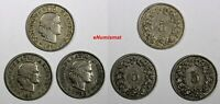 Switzerland LOT OF 3 COINS 1880-1899  5 Rappen BETTER SCARCE DATES KM# 26