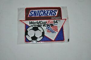 VINTAGE SNICKERS 1994 WORLD CUP USA Soccer Ad Advertising PATCH NIP NOS