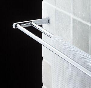 Samuel Heath Series 8000 N7152 brass double towel rail - Chrome BNIB