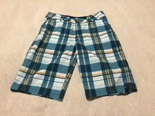 Quicksilver Men's Blue Plaid Board Shorts Size 27 beb