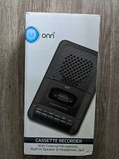 ONN Cassette Recorder With External Microphone & Blank Cassette Tape SHIPS FREE
