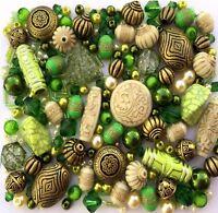 Green Jewellery Making Beads 80g