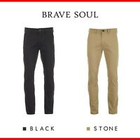 Brave Soul Armstrong Men's Stretch Slim Fit Chinos Trousers RRP £29.99