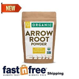 Organic Arrowroot Powder (Flour) - 1 Pound Resealable Bag (16oz) - 100% Raw F...