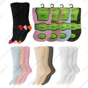Women's Ladies Extra Wide Diabetic Comfort Top Gentle Grip Socks UK Size 4-8