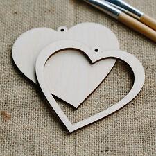 De Madera Corazón Portaretrato conjunto Ideal Boda Cumpleaños Regalo Recuerdo Cross Stitch
