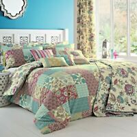 Dreams & Drapes MARINELLI Patchwork Duvet Cover Bedding Set Pencil Pleat Curtain