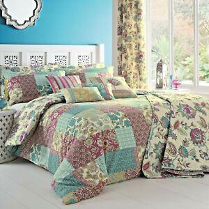 Dreams & Drapes MARINELLI Patchwork Duvet Cover Bedding Set Pencil Pleat Curtain