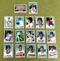 1978 TOPPS BASEBALL CALIFORNIA ANGELS COMPLETE TEAM SET (28) NM+ NOLAN RYAN