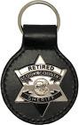 COOK COUNTY SHERIFF STAR KEY FOB: Deputy / Officer Retired