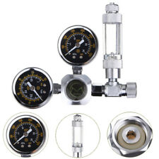 Aquarium Double Gauge CO2 System Pressure Regulator w/ Bubble Counter Solenoid