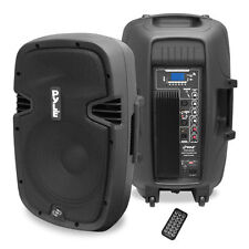 "NEW Pyle PPHP1237UB 12"" 900W Powered Two-Way Speaker MP3/USB/SD/ Bluetooth Music"