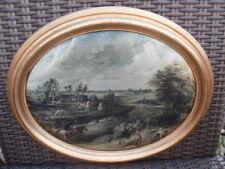 Bild Seidenbild François Boucher Ländliches Motiv Goldrahmen Holz